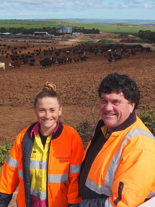 Bec Rowe with her father and owner of Princess Royal Station Simon Rowe - The Stock Journal 2017.jpg