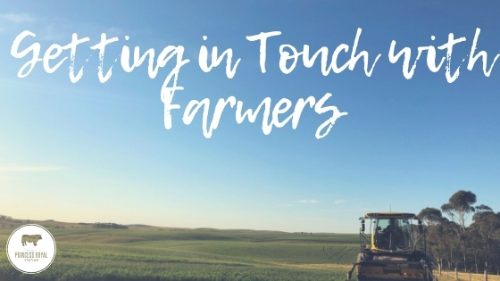 Getting in touch with farmers