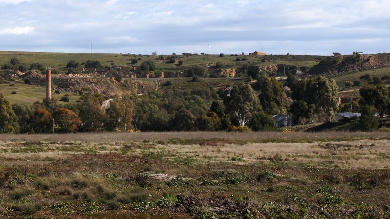 The Burra Mine today as seen from Princess Royal Station